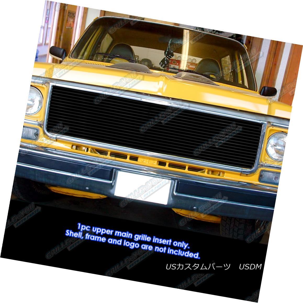 グリル Fits 1973-1980 Chevy GMC Blazer/C/K Pickup/Suburban Black Billet Grille フィット1973-1980 Chevy GMC Blazer / C / Kピックアップ/サバーバン n Black Billet Grille