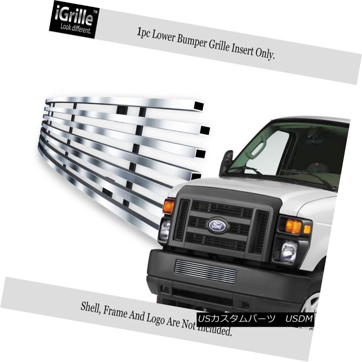 グリル Fits 2008-2013 Ford Econoline Van/E-Series Bumper Stainless Steel Billet Grille Ford Econoline Van / Eシリーズバンパーステンレス鋼ビレットグリル