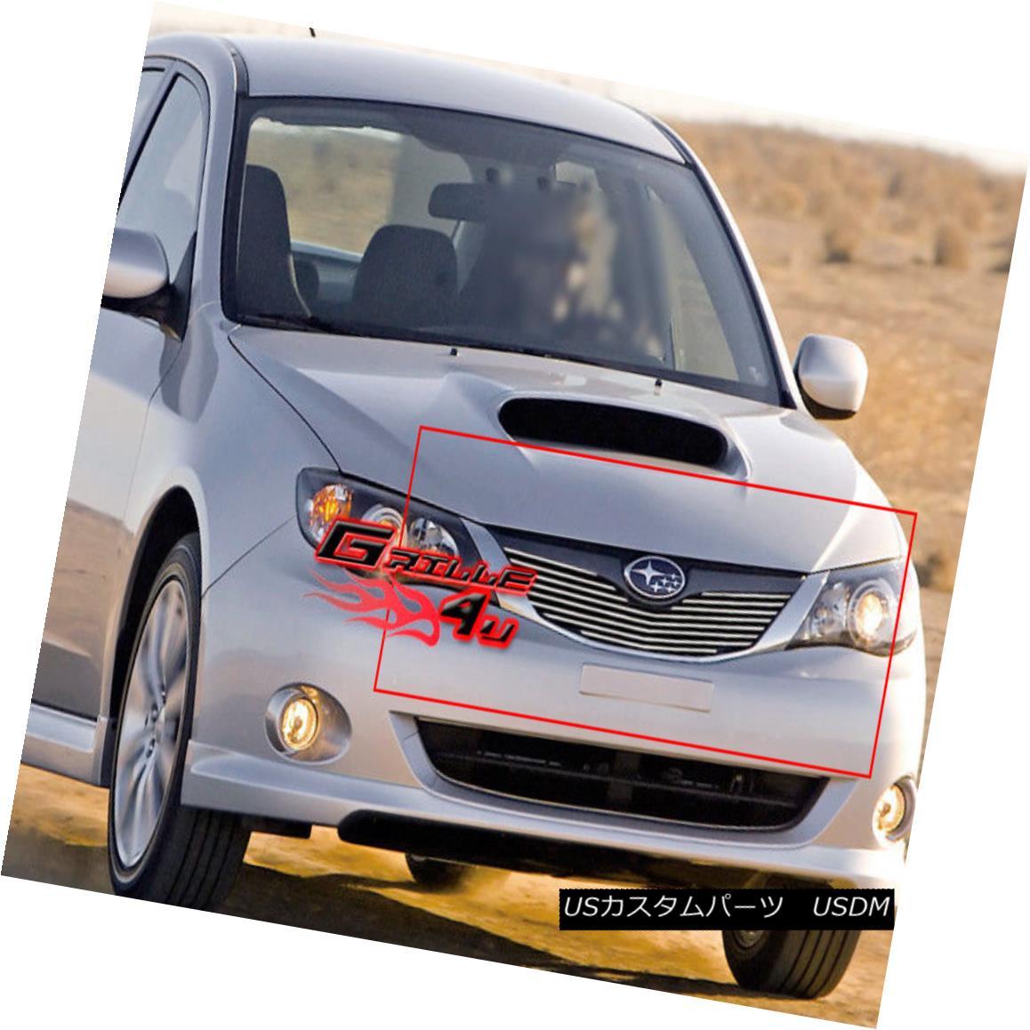 グリル Fits 09-11 2011 Subaru Impreza Main Upper Billet Grille Insert フィット2011年9月11日スバルインプレッサメインアッパービレットグリルインサート