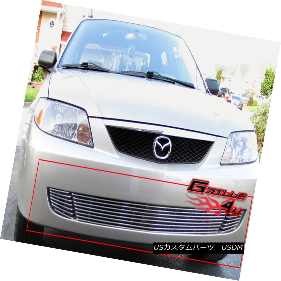 グリル Fits 2001-2003 Mazda Protege Lower Bumper Billet Grille Insert 2001-2003 Mazda Protegeロワーバンパービレットグリルインサートに適合