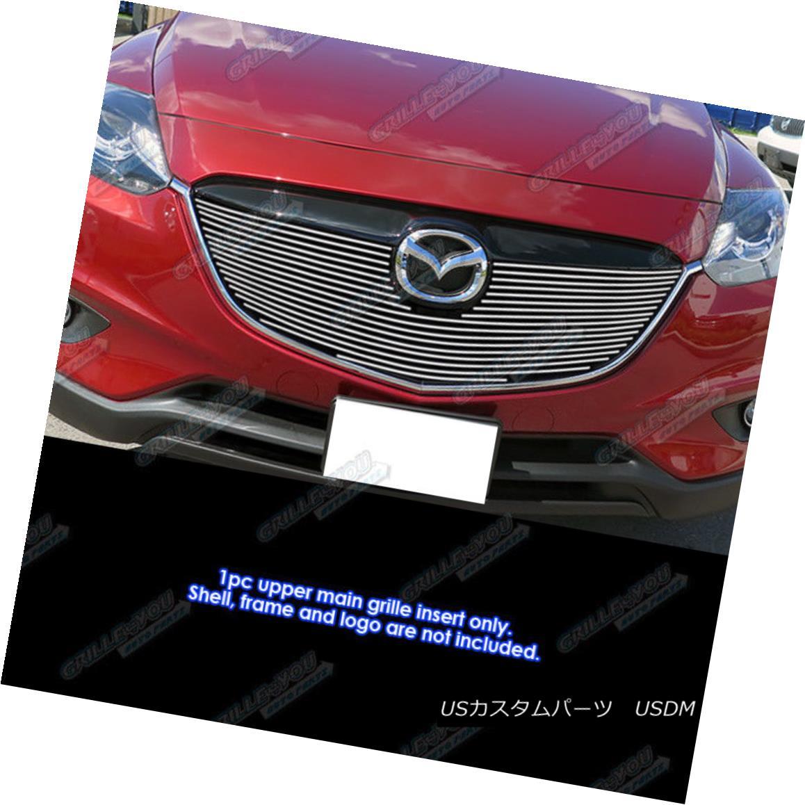 グリル Fits 2013-2015 Mazda CX-9 Upper Main Upper Billet Grille Inserts マツダCX-9アッパーメインアッパービレットグリルインサート
