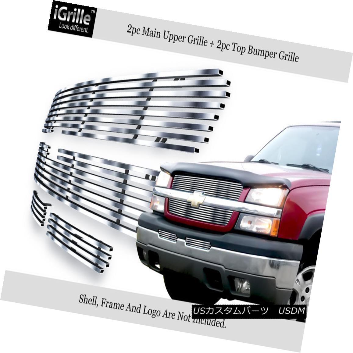 グリル 304 Stainless Billet Grille Combo Fits 03-05 Silverado 1500/03-04 2500/3500 304ステンレスビレットグリルコンボフィッティング03-05 Silverado 1500 / 03-04 2500/3500