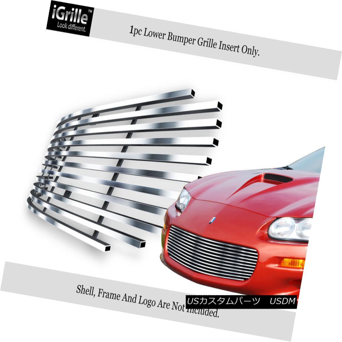 グリル Fits 1998-2003 Chevy Camaro/Camaro SS Stainless Steel Billet Grille Insert フィット1998-2003シボレーカマロ/カマロSSステンレス鋼ビレットグリルインサート
