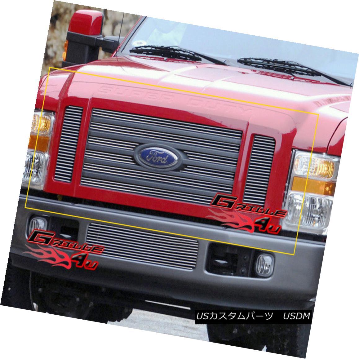 グリル Fits 08-10 Ford F250/F350/F450/F550 Super Duty Main Upper Billet Grille フィット08-10フォードF250 / F350 / F450 / F550スーパーDutyメインアッパービレットグリル