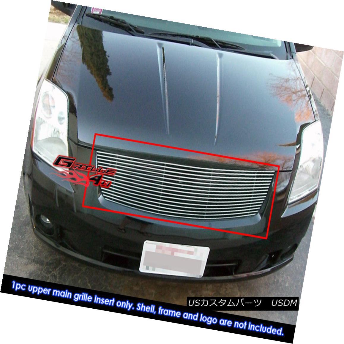 グリル Fits 2007-2009 Nissan Sentra Main Upper Billet Grille Insert Nissan Sentraメインアッパービレットグリルインサート