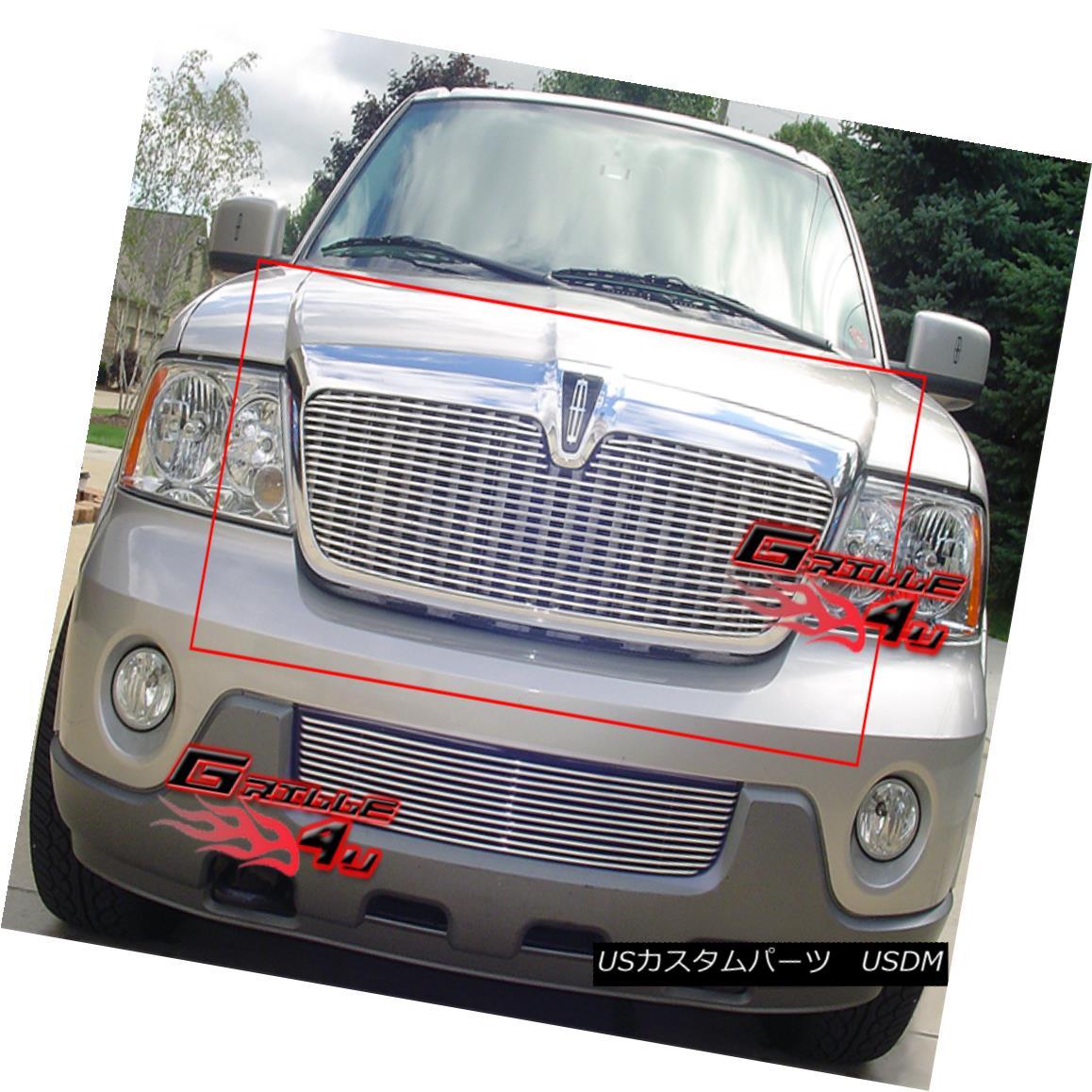 グリル Fits 2003-2006 Lincoln Navigator Billet Grille Insert フィット2003-2006リンカーンナビゲータービレットグリルインサート