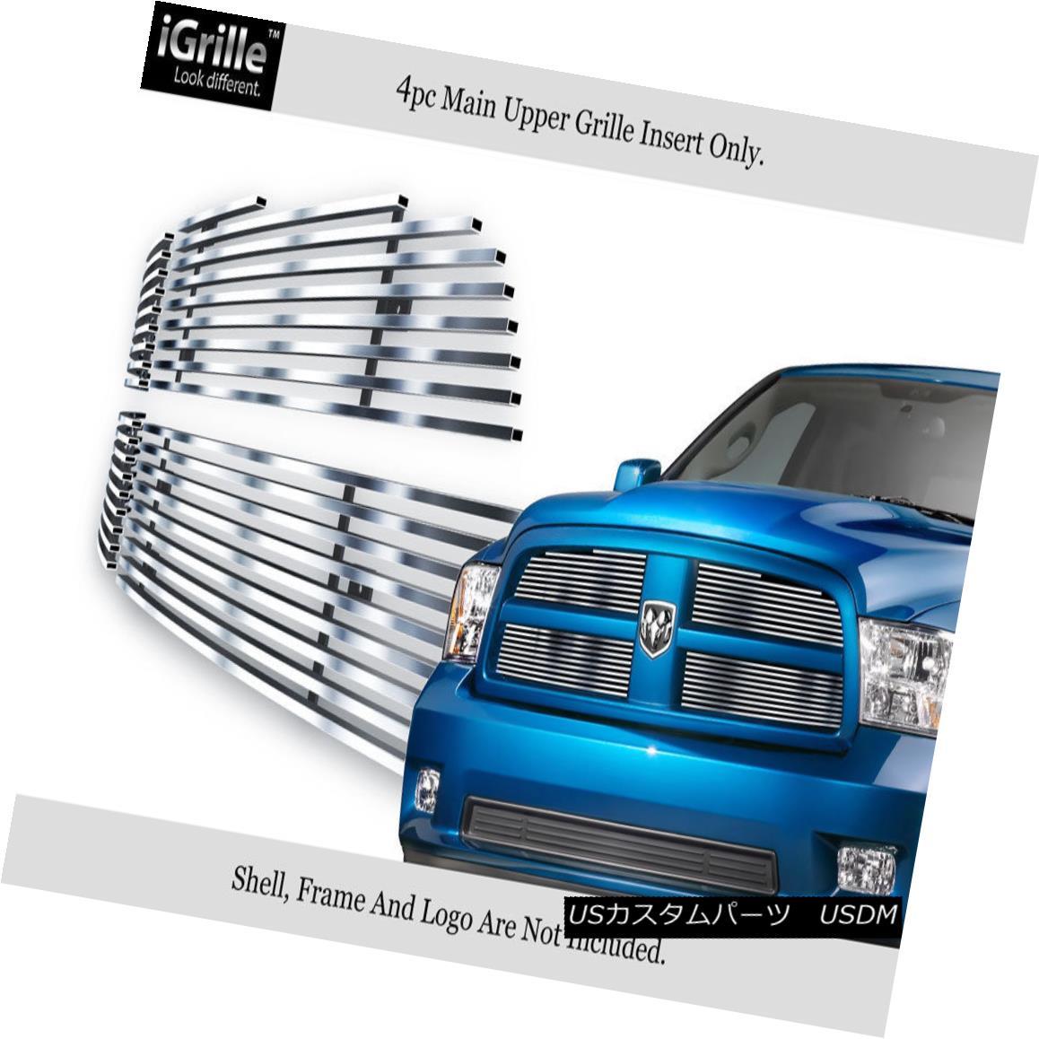 グリル For 2009-2012 Dodge Ram 1500 Pickup Stainless Steel Billet Grille Grill Insert 2009-2012ダッジラム1500用ピックアップステンレス鋼ビレットグリルグリルインサート