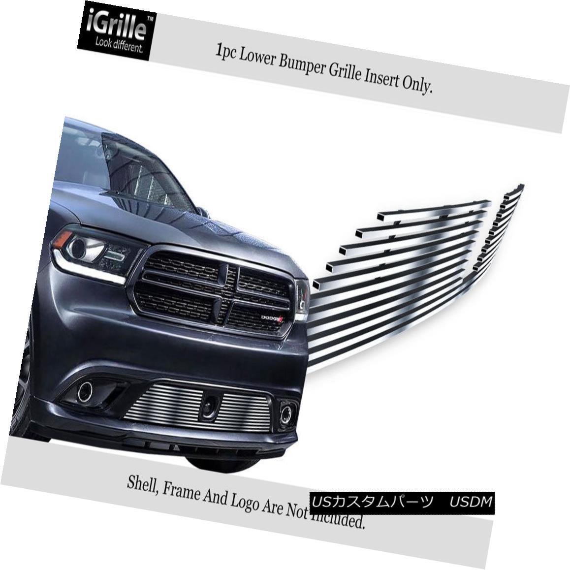 グリル Fits 2014-2018 Dodge Durango W/Adapter Control Stainless Bumper Billet Grille フィット2014-2018ダッジデュランゴW /アダプターコントロールステンレスバンパービレットグリル