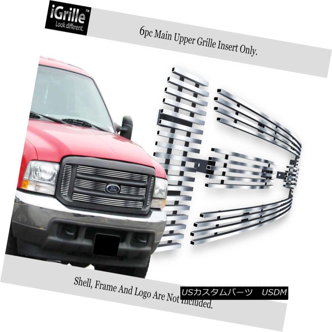 グリル Fits 99-04 Ford F250/F350/F450/ F550 Stainless Steel Billet Grille Insert フィッティング99-04 Ford F250 / F350 / F450 / F550ステンレス鋼ビレットグリルインサート