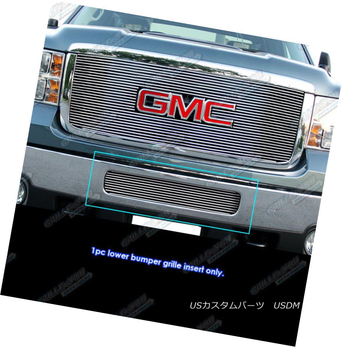 グリル Fits 2011-2014 GMC Sierra 2500HD/3500HD Bumper Billet Grille Grill Insert フィット2011-2014 GMC Sierra 2500HD / 3500HDバンパービレットグリルグリルインサート