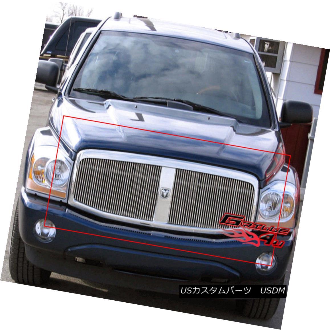 グリル Fits 2004-2006 Dodge Durango Billet Grille Insert 2004-2006 Dodge Durango Billet Grille Insertに適合