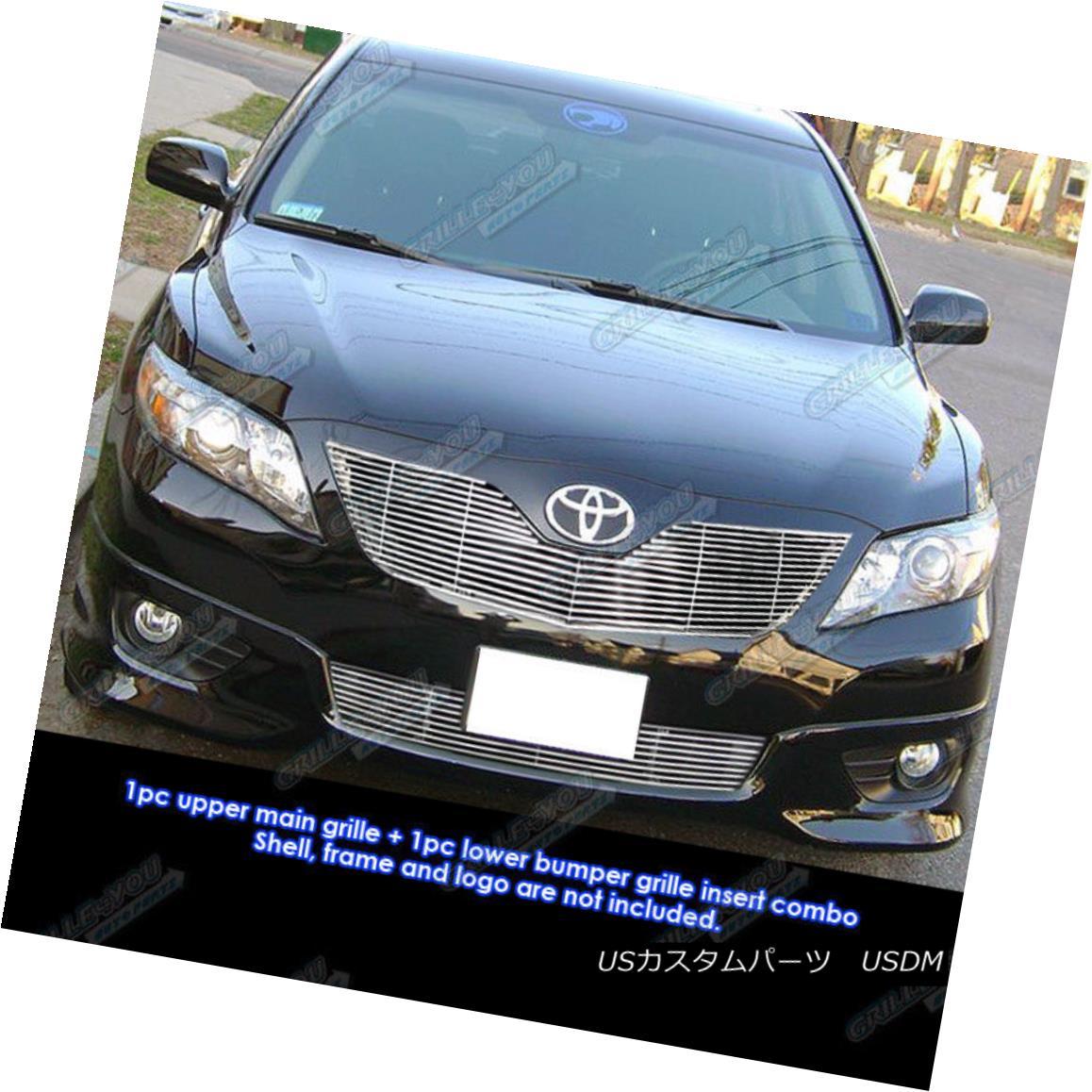 グリル Fits 10-11 Toyota Camry Billet Grille Combo Insert フィット10-11トヨタカムリビレットグリルコンボインサート