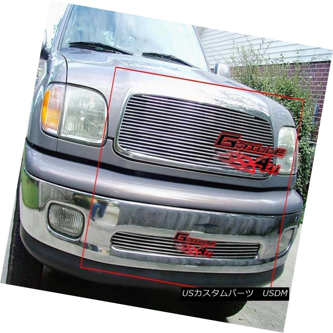 グリル Fits 1999-2002 Toyota Tundra Billet Grille Combo フィット1999-2002トヨタトンドラビレットグリルコンボ
