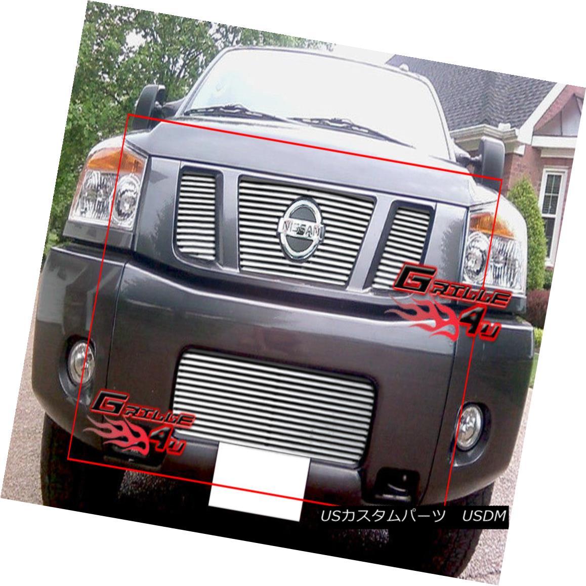 グリル Fits 2008-2013 Nissan Titan Perimeter Grille Grill Combo 2008-2013 Nissan Titanペリメーターグリルグリルコンボ