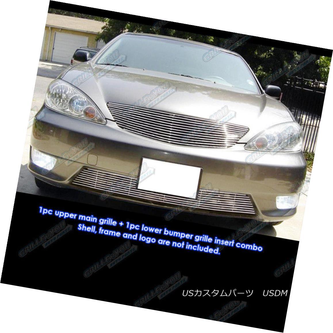 グリル Fits 2005-2006 Toyota Camry Billet Grille Combo Insert 2005-2006トヨタカムリビレットグリルコンボインサートに適合
