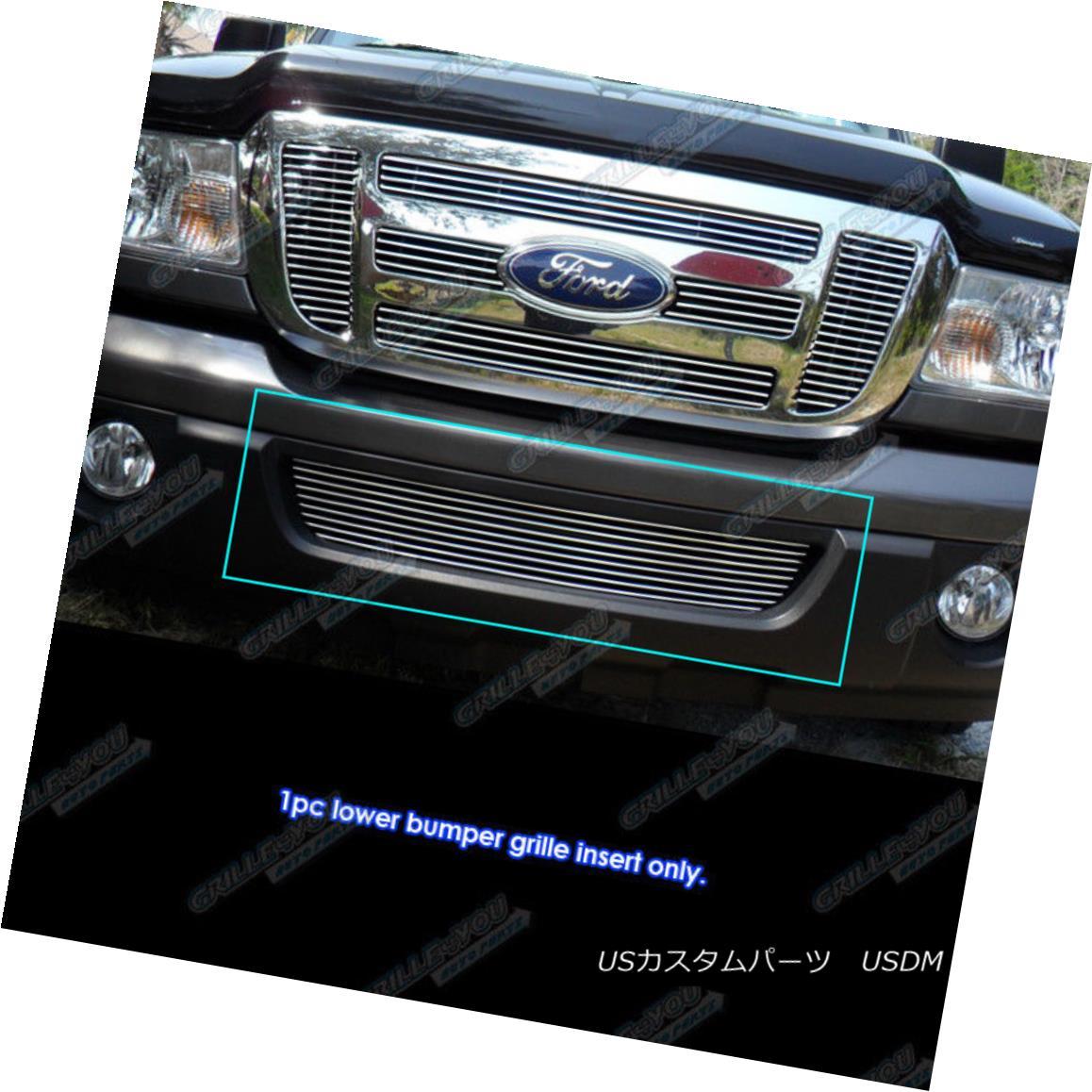 グリル Fits 2006-2012 Ford Ranger Lower Bumper Billet Grille Grill Insert フィット2006-2012フォードレンジャーロワーバンパービレットグリルグリルインサート