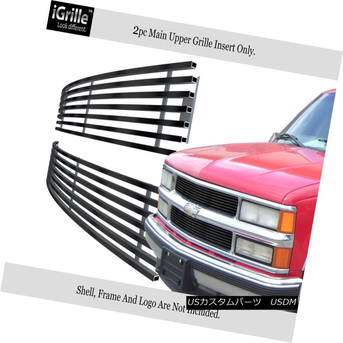 グリル 94-99 Chevy Blaze/C/K Pickup/Suburban/95-99 Tahoe Black Stainless Billet Grille 94-99シボレーブレイザー/ C / Kピックアップ/郊外 n / 95-99タホブラックステンレスビレットグリル