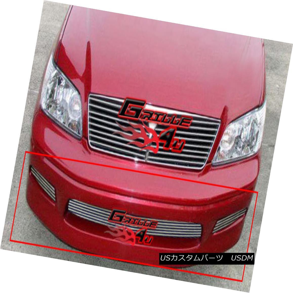 グリル Fits 02-03 Mitsubishi Lancer Lower Bumper Billet Grille Insert フィット02-03三菱ランサーロワーバンパービレットグリルインサート