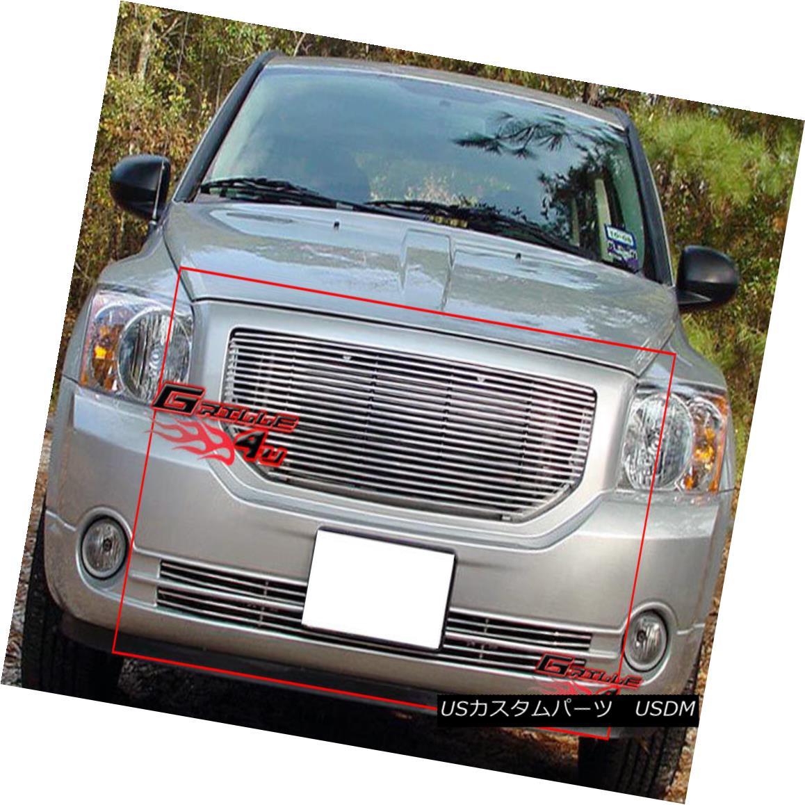 グリル Fits 06-12 2011 2012 Dodge Caliber Billet Grille Grill Combo insert フィット2012年6月12日2012ダッジキャリバービレットグリルグリルコンボインサート