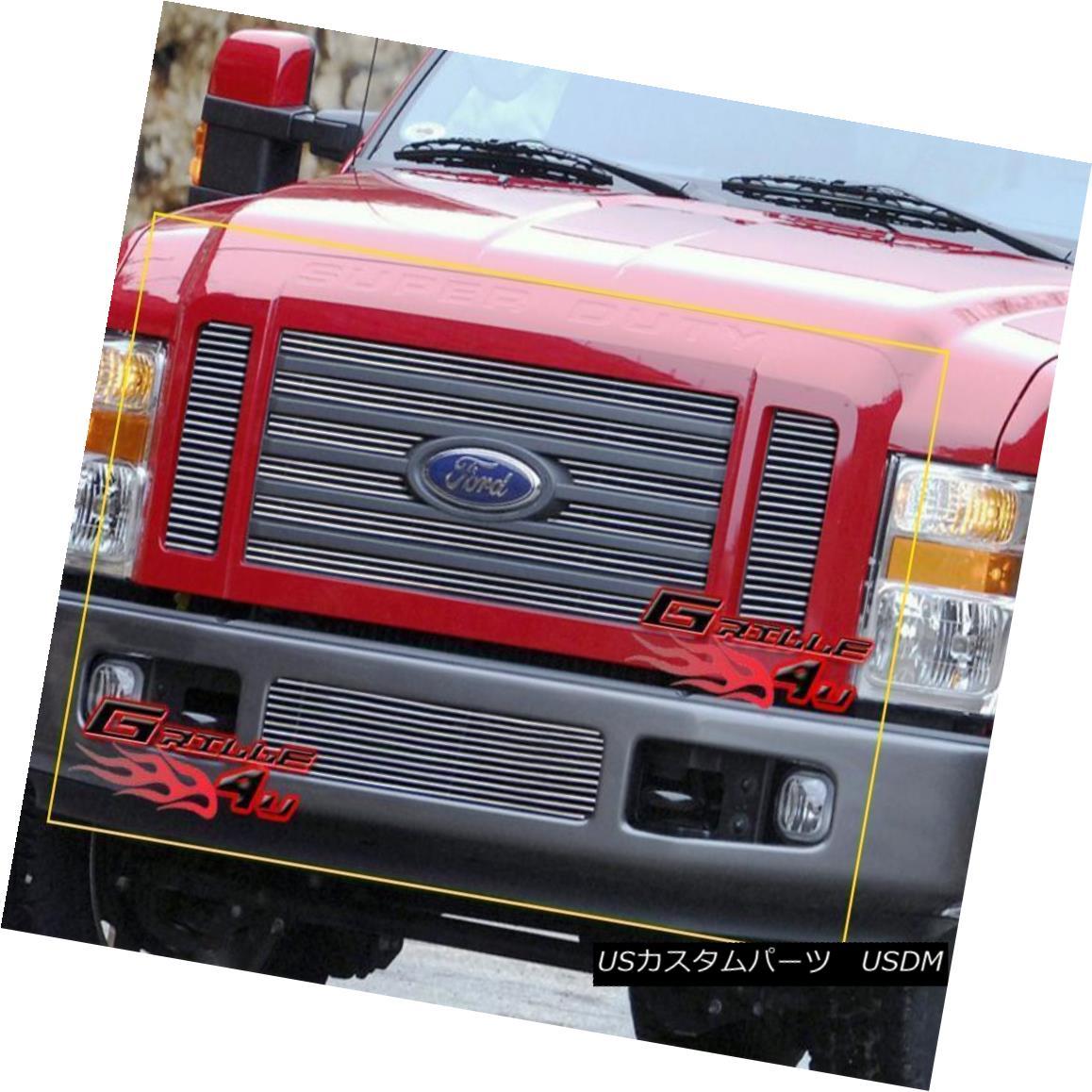 グリル Fits 08-10 Ford F-250/F-350/F-450 SD FX4 Billet Grille Combo フィット08-10フォードF-250 / F-350 / F- 450 SD FX4ビレットグリルコンボ