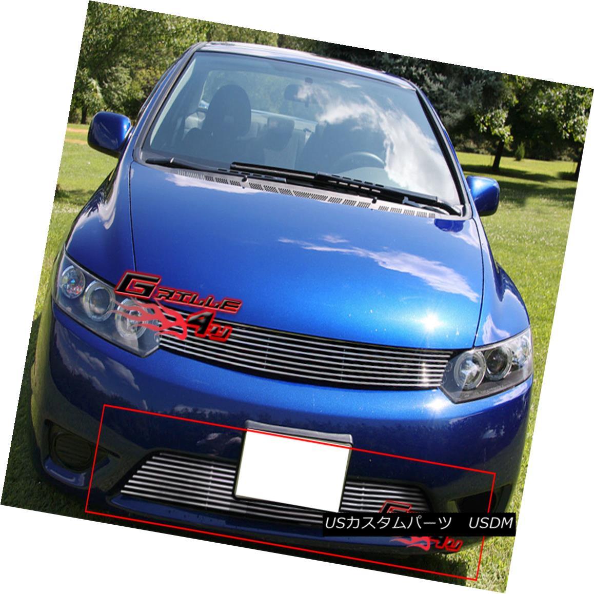 グリル Fits 2006-2008 Honda Civic Coupe Bumper Billet Grille Insert 2006-2008ホンダシビッククーペバンパービレットグリルインサートに適合