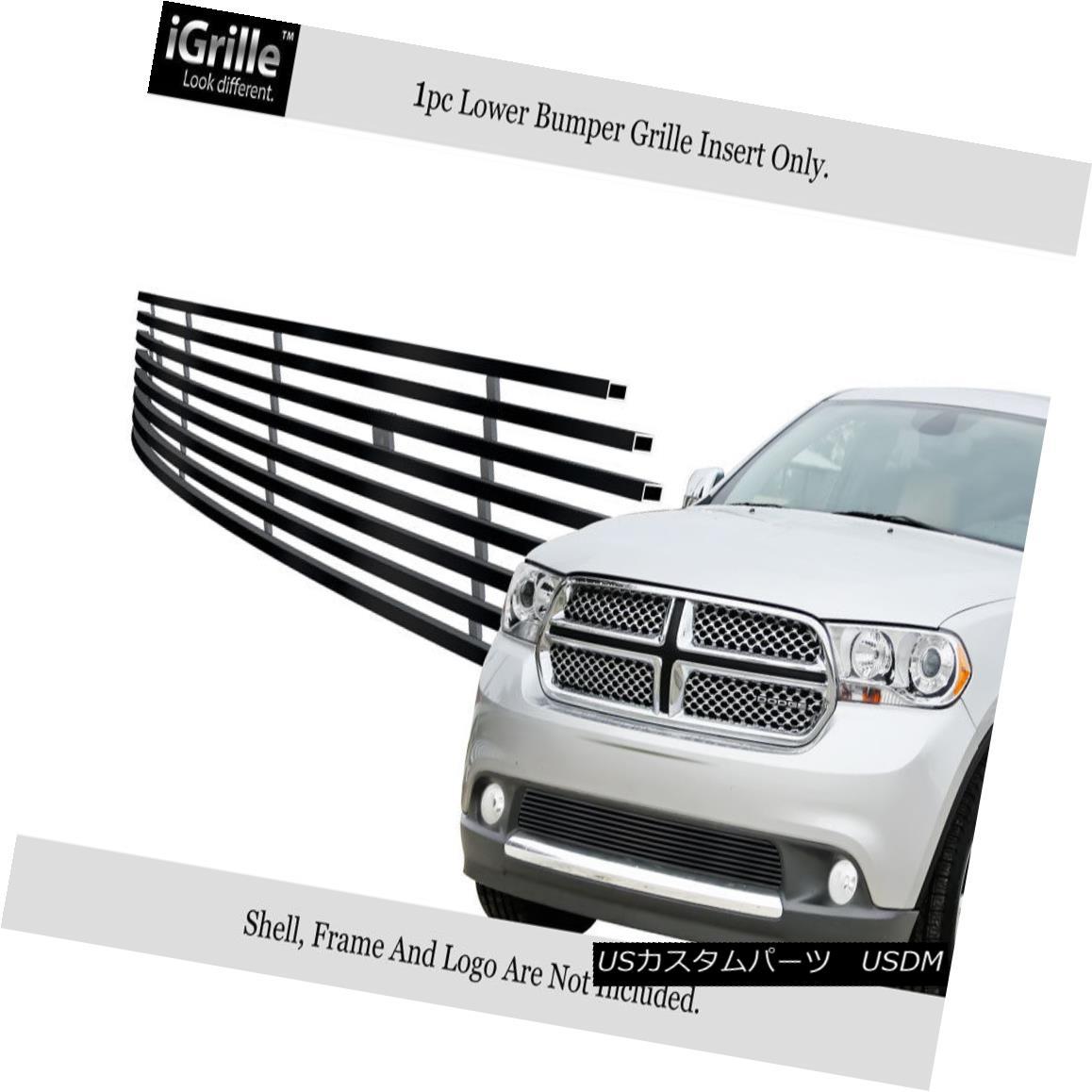 グリル Fits 2011-2013 Dodge Durango Bumper Black Stainless Steel Billet Grille Insert 2011-2013 Dodge Durangoバンパー黒ステンレス鋼ビレットグリルインサート