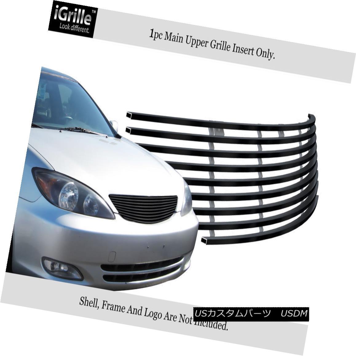グリル Fits 2002-2005 Toyota Camry Stainless Steel Black Billet Grille 2002-2005トヨタカムリステンレススチールブラックビレットグリルに適合