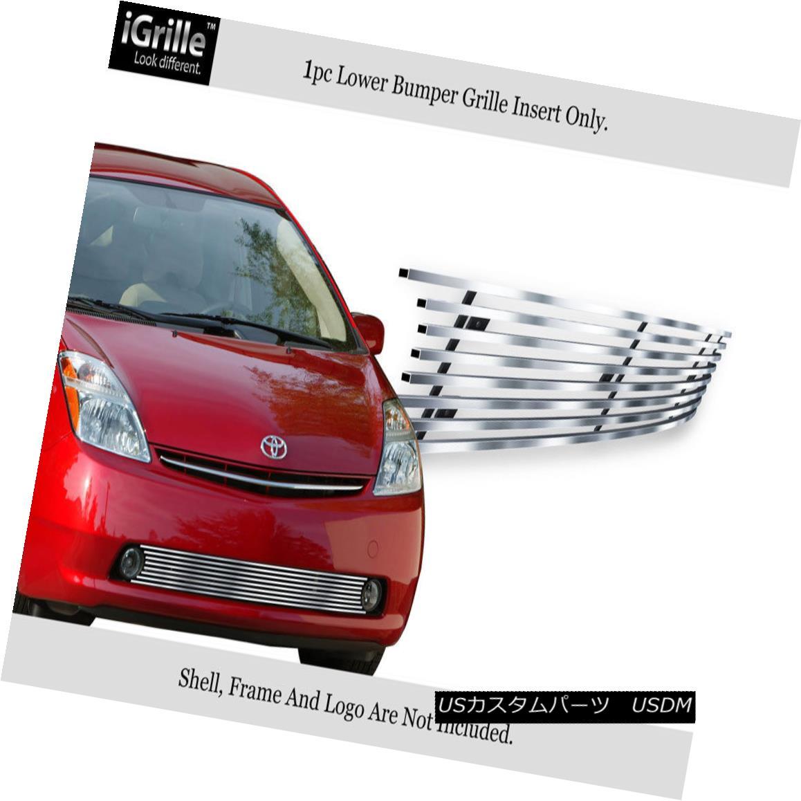 グリル Fits 2006-2009 Toyota Prius Bumper Stainless Steel Billet Grille Insert フィット2006-2009トヨタプリウスバンパーステンレス鋼ビレットグリルインサート