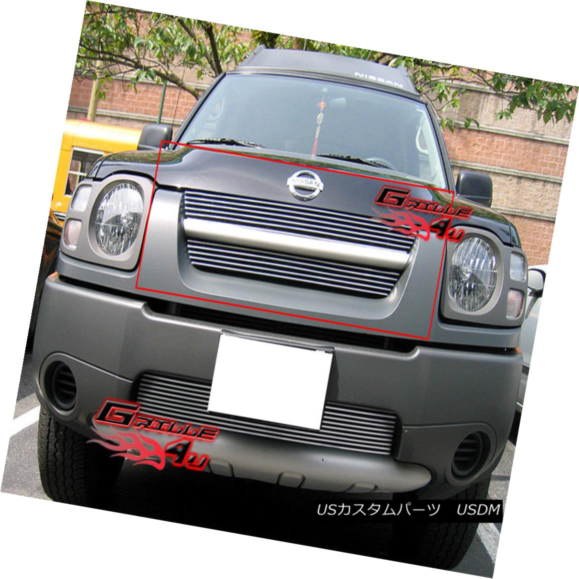 グリル Fits 2002-2004 Nissan Xterra Main Upper Billet Grille Insert フィット2002-2004日産Xterraメインアッパービレットグリルインサート