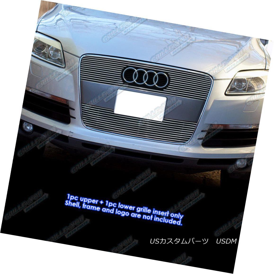 グリル Fits 2007-2012 Audi Q7 Main Upper Billet Grille Grill Insert フィット2007年から2012年アウディQ7メインアッパービレットグリルグリルインサート
