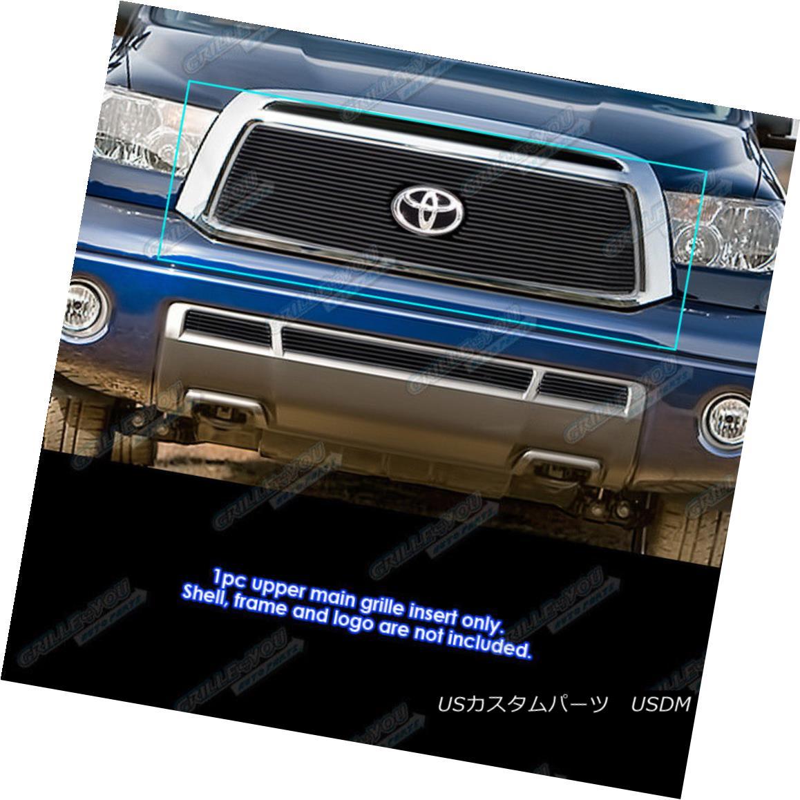 グリル Fits 2010-2013 Toyota Tundra Black Billet Grille Grill Insert フィット2010-2013トヨタトンドラブラックビレットグリルグリルインサート