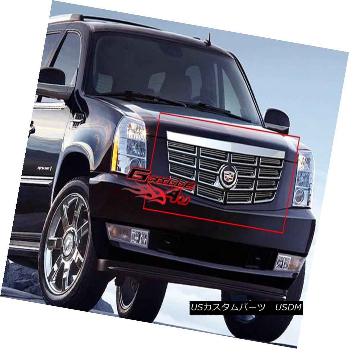 グリル Fits 2008-2014 Cadillac Escalade Main Upper Billet Grille Grill Insert フィット2008-2014キャデラックエスカレードメインアッパービレットグリルグリルインサート