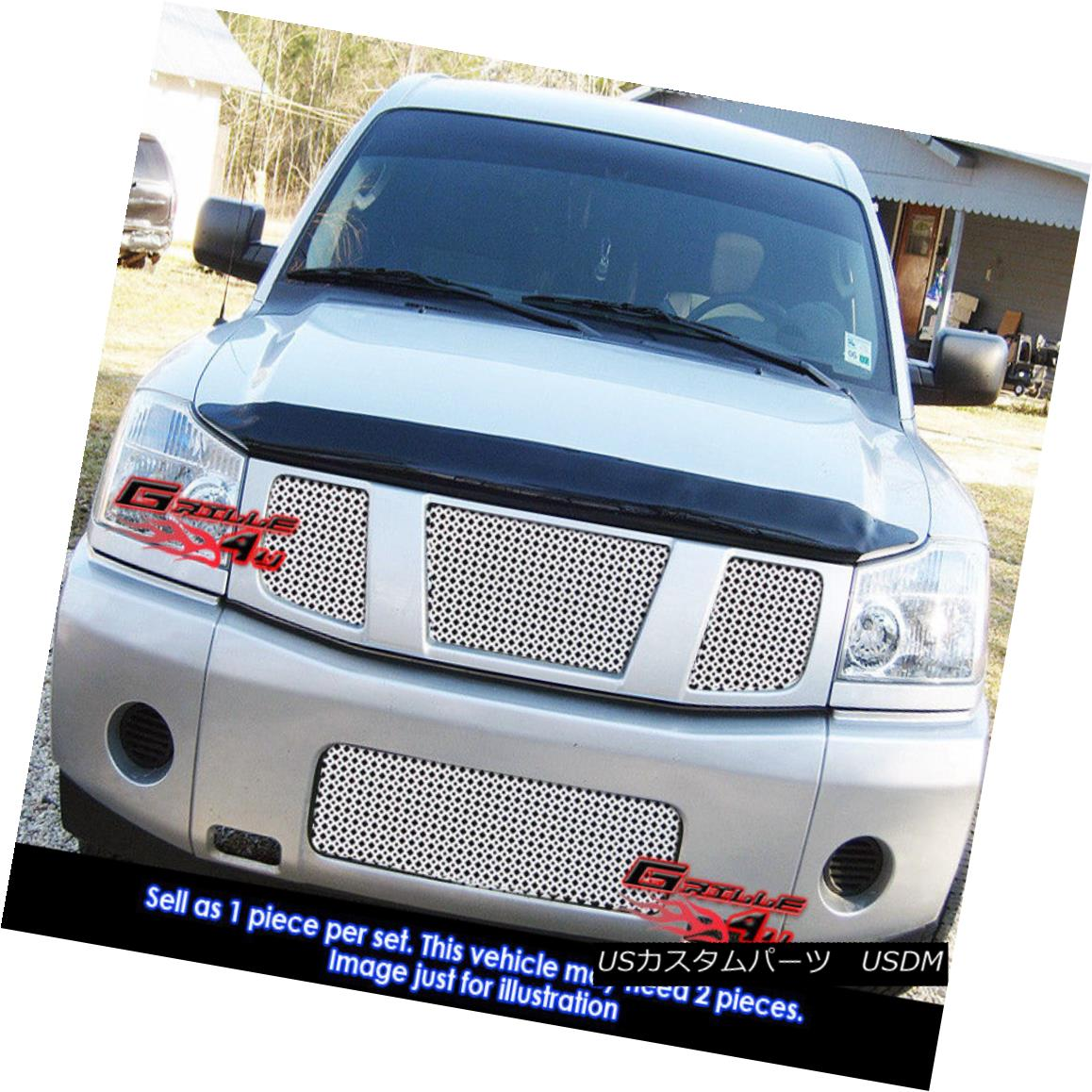 USグリル For Universal Stainless Steel Chrome Punch Sheet Grille Grill 12