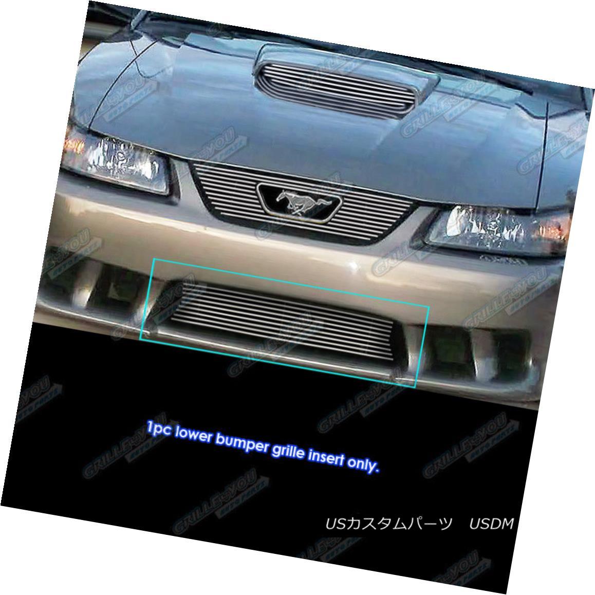 グリル Fits 1999-2004 Ford Mustang Saleen Lower Bumper Billet Grille Grill Insert フィット1999-2004フォードマスタングサレーンロワーバンパービレットグリルグリルインサート