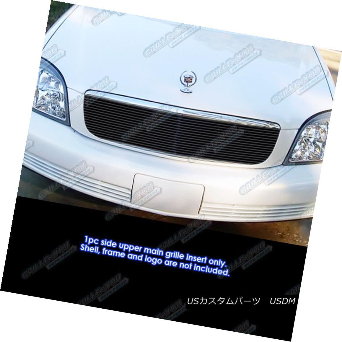 グリル Fits 2000-2005 Cadillac DeVille Black Main Upper Billet Grille Insert 2000-2005 Cadillac DeVille Blackメインアッパービレットグリルインサート