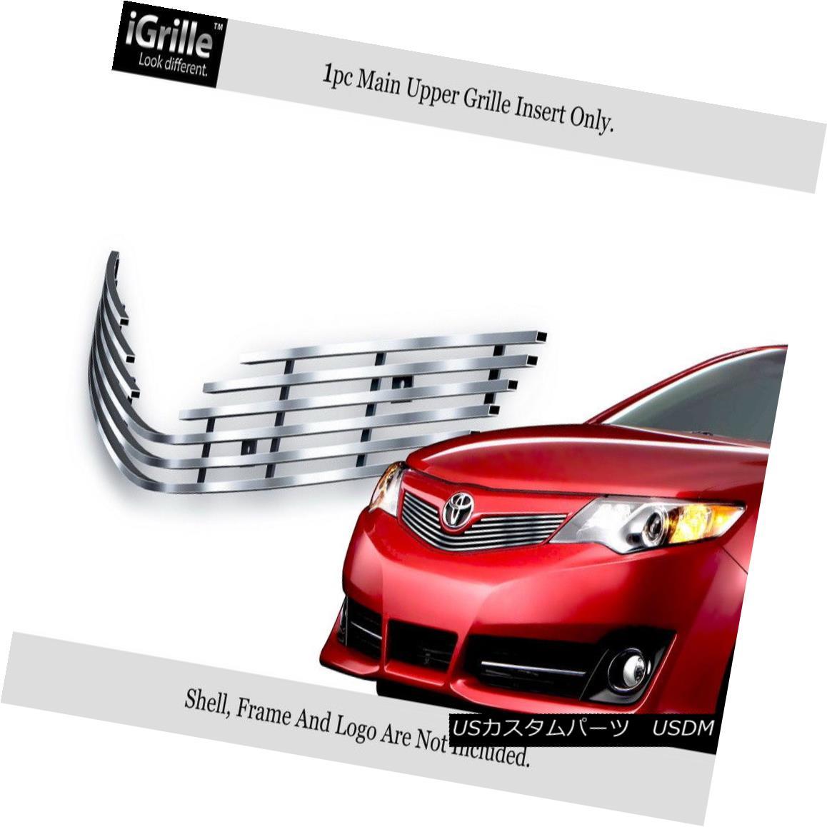 グリル Fits 2012-2014 Toyota Camry SE Stainless Steel Billet Grille Grill Insert フィット2012-2014トヨタカムリSEステンレス鋼ビレットグリルグリルインサート