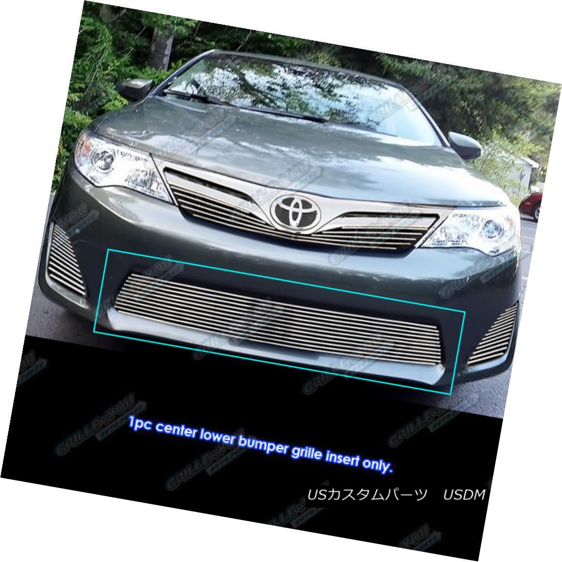 グリル Fits 2012-2014 Toyota Camry Lower Bumper Billet Grille Gill Insert フィット2012-2014トヨタカムリロワーバンパービレットグリルギルインサート