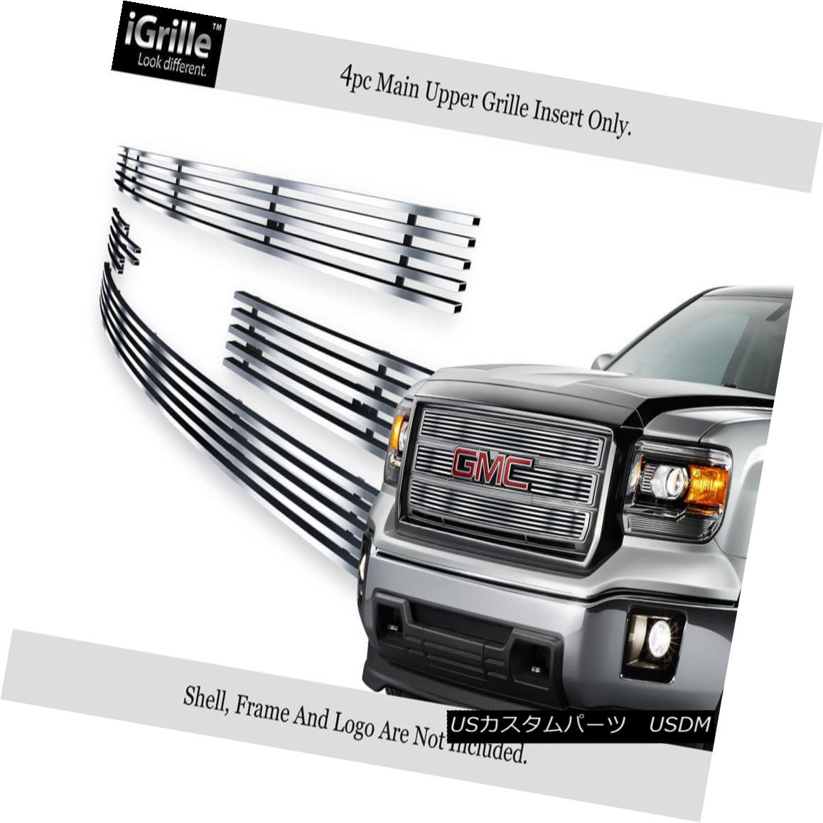 グリル For 2014-2015 GMC Sierra 1500 Reg Model Stainless Steel Billet Grille Insert 2014-2015 GMC Sierra 1500 Regモデルステンレス鋼ビレットグリルインサート