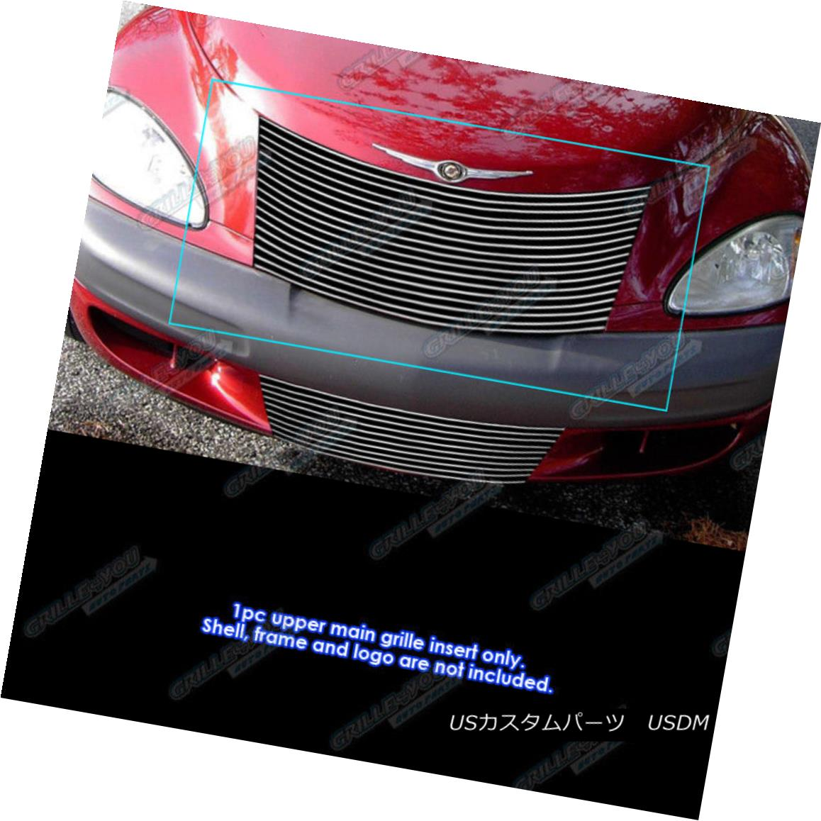 グリル Fits 2000-2005 Chrysler PT Cruiser Billet Grille Grill Insert フィット2000-2005クライスラーPTクルーザービレットグリルグリルインサート