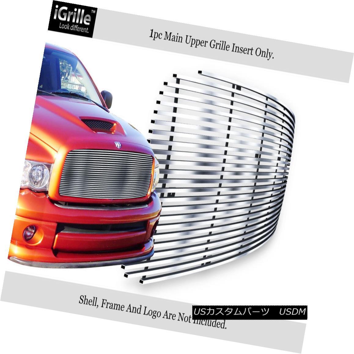 グリル Fits 2002-2005 Dodge Ram 1500/2500/3500 Stainless Steel Billet Grille 2002-2005 Dodge Ram 1500/2500/3500ステンレス鋼ビレットグリルに適合