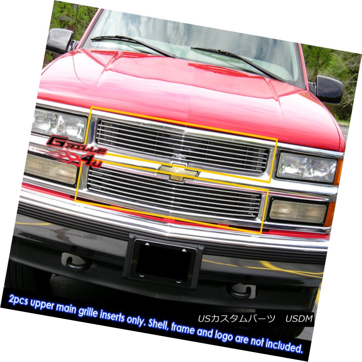グリル Fits 1994-1999 C/K Pickup/Suburban/Blazer/Tahoe Billet Grille 1994-1999 C / K Pickup / Suburba n / Blazer / Tahoe Billet Grilleに適合