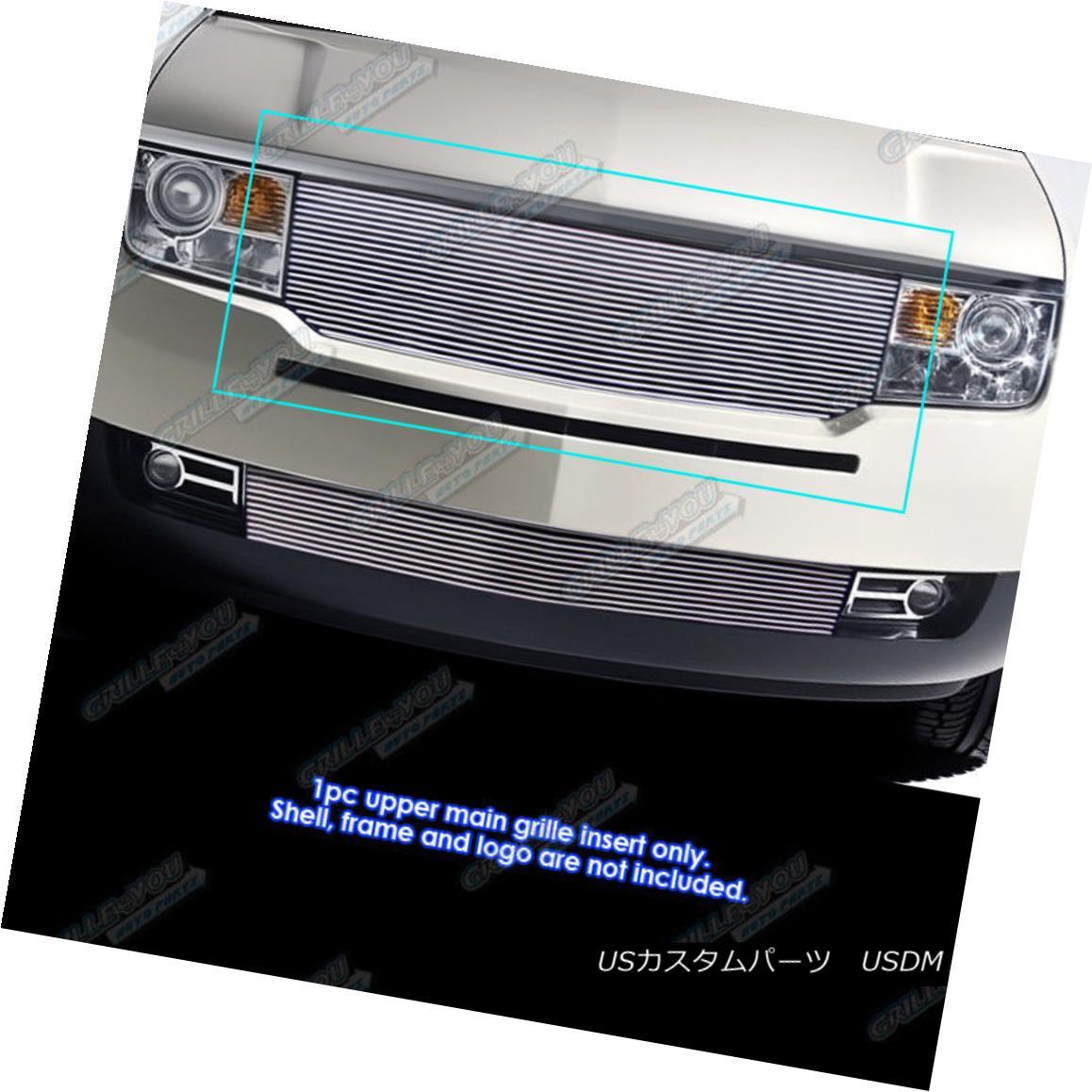 グリル Fits 07-10 Lincoln MKX Main Upper Billet Grille Insert フィット07-10リンカーンMKXメインアッパービレットグリルインサート