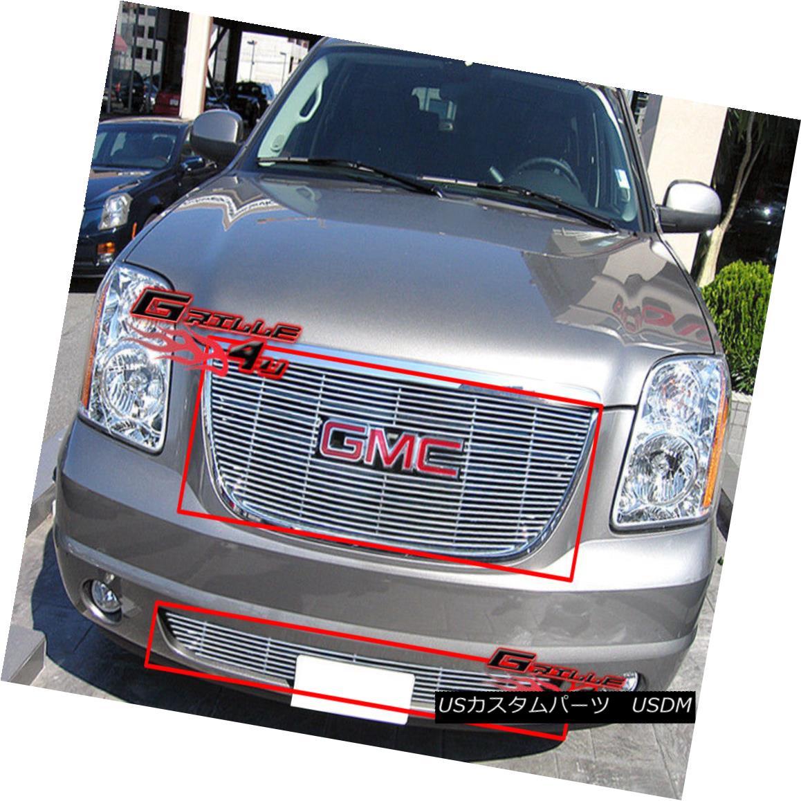 グリル Fits 2007-2013 GMC Yukon Billet Grille Grill Insert Combo 2007-2013 GMC Yukon Billetグリルグリルインサートコンボ
