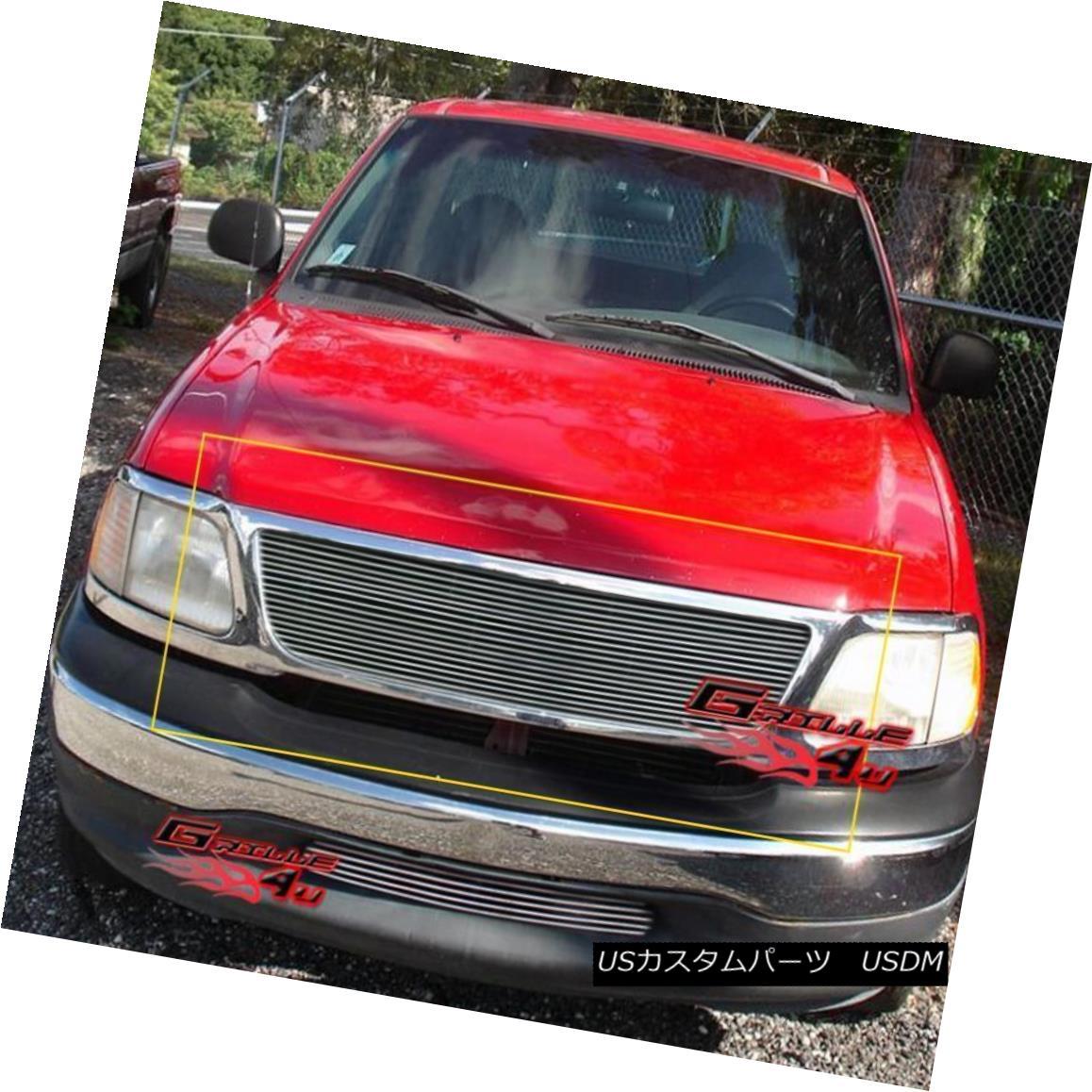 グリル Fits 99-03 Ford F150/Lightning/Harley Davidson Main Upper Billet Grille フィット99-03 Ford F150 / Lightning / Harley Davidsonメインアッパービレットグリル