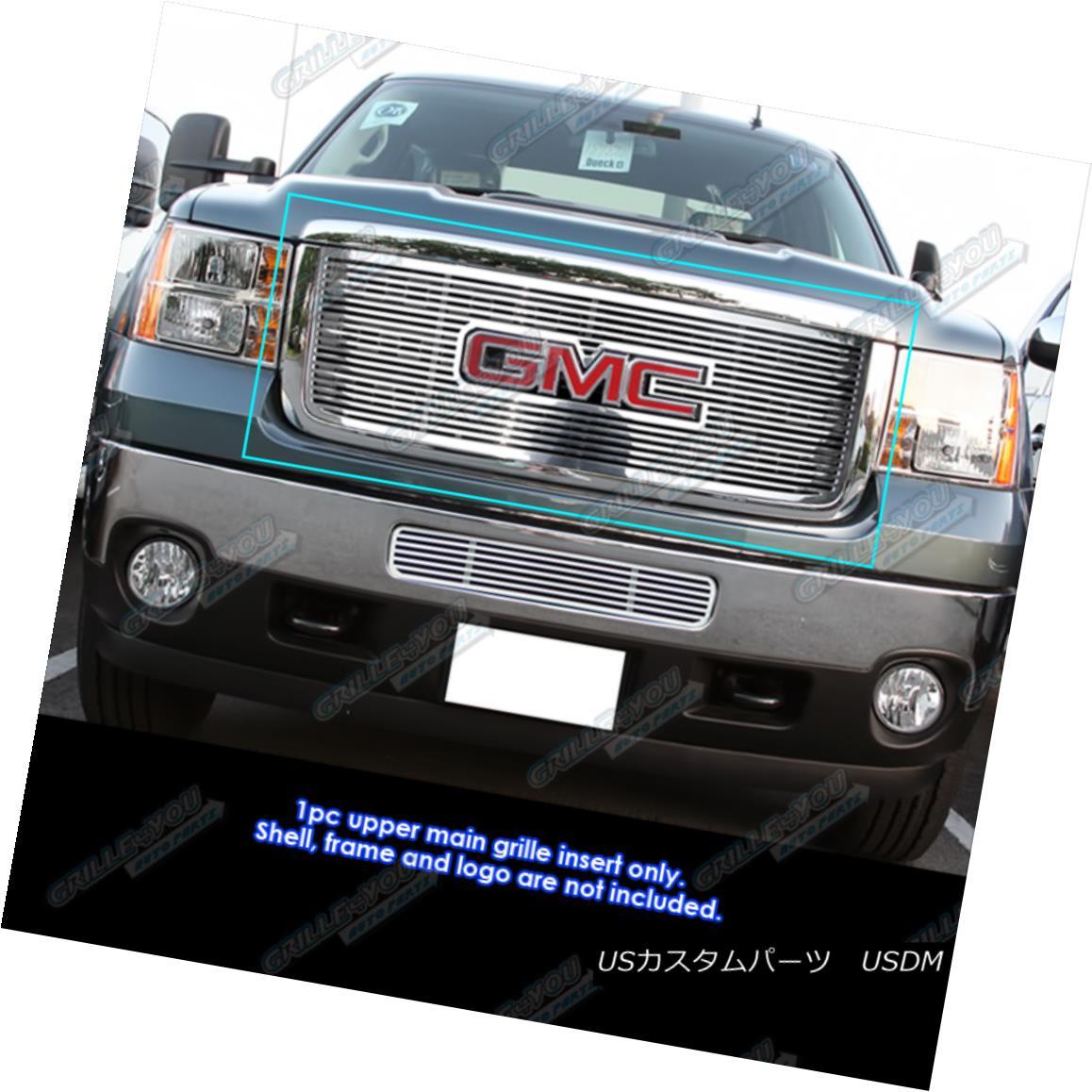 グリル Fits 2011-2014 GMC Sierra 2500HD/3500HD Perimeter CNC Cut Grille Grill Insert フィット2011-2014 GMC Sierra 2500HD / 3500HD周辺CNCカットグリルグリルインサート