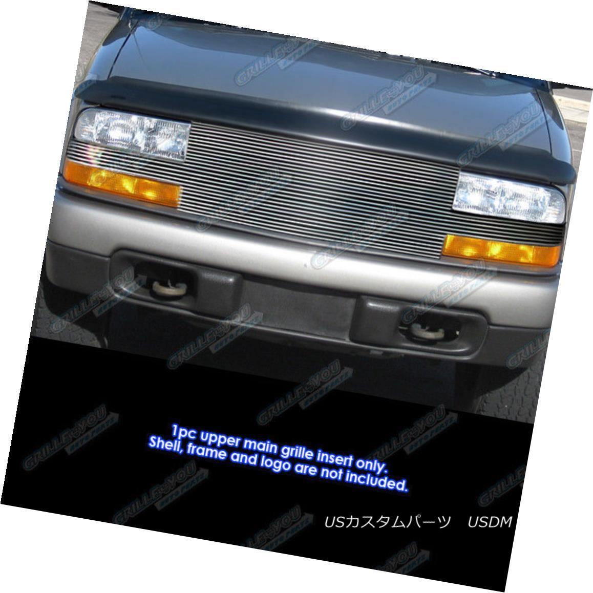 グリル Fits 1998-2004 Chevy S-10 Pickup/Blazer Full Face Billet Grille Grill Insert フィット1998-2004シボレーS - 10ピックアップ/ブレザーフルフェイスビレットグリルグリルインサート