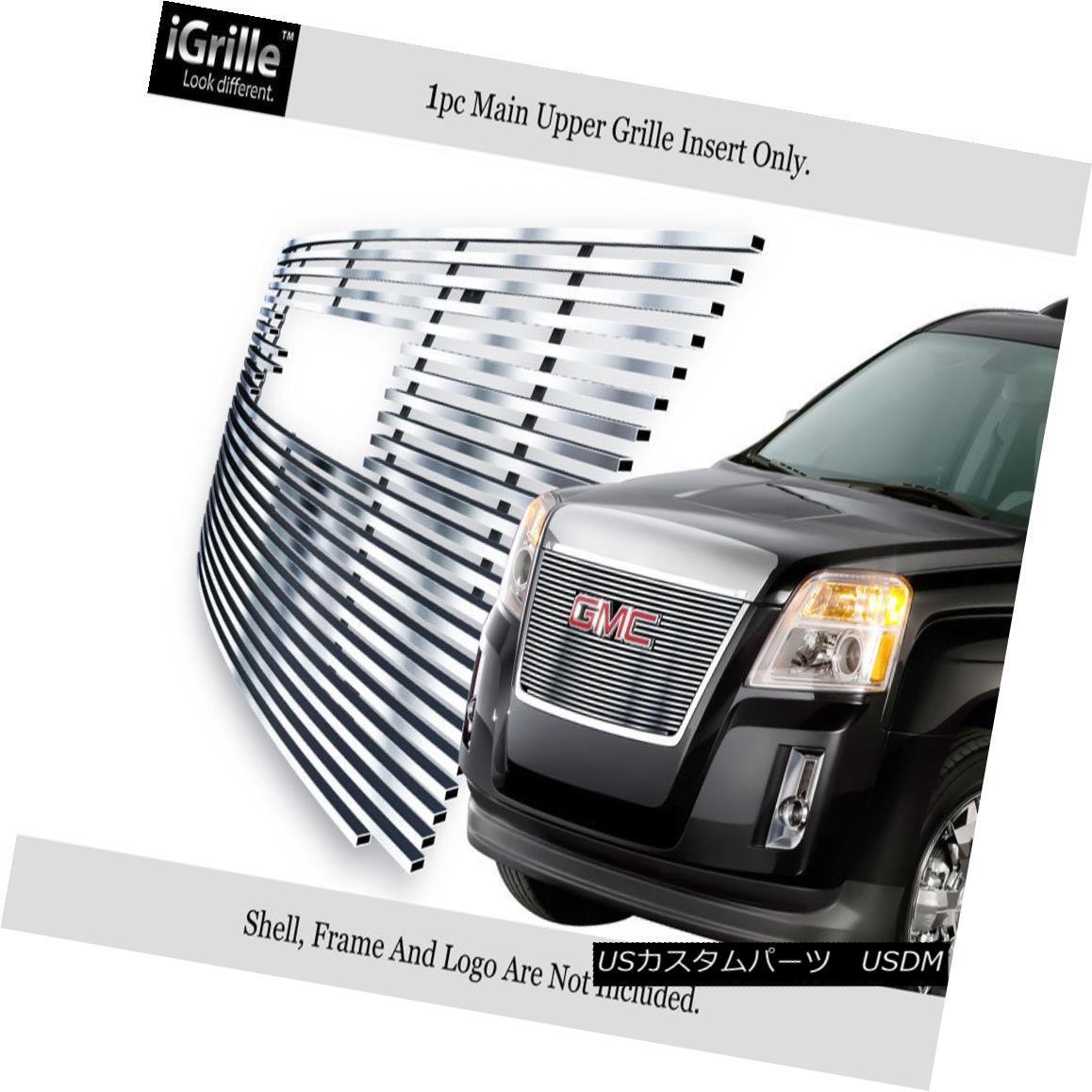 グリル For 2010-2014 GMC Terrain Stainless Steel Billet Grille Insert With Logo Show 2010?2014年GMC地形ステンレス鋼ビレットグリルインサートロゴショー