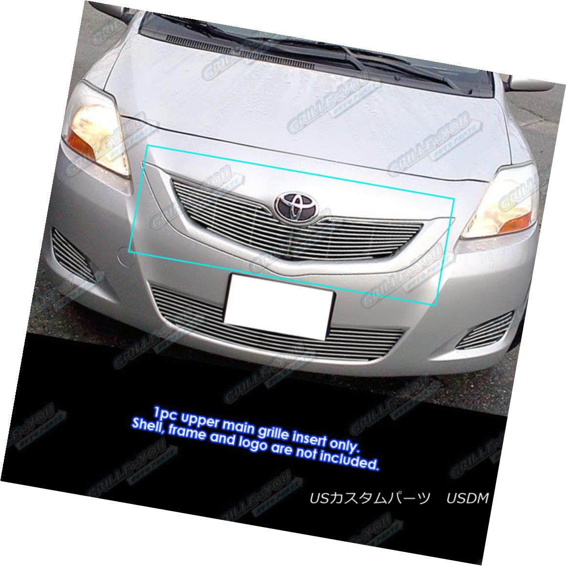 グリル Fits 2009-2011 Toyota Yaris Sedan Main Upper Billet Grille Grill Insert 2009-2011 Toyota Yaris Sedanメインアッパービレットグリルグリルインサート
