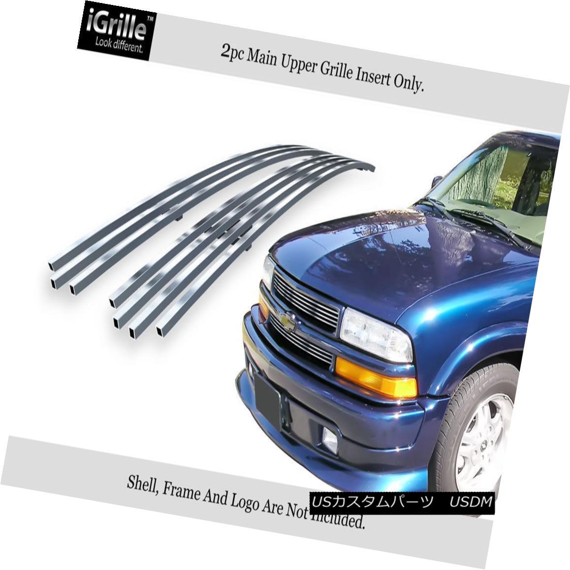 グリル Fits 1998-2004 Chevy S-10 /1998-2005 Blazer Stainless Steel Billet Grille フィット1998-2004シボレーS-10 / 1998-2005ブレザーステンレス鋼ビレットグリル