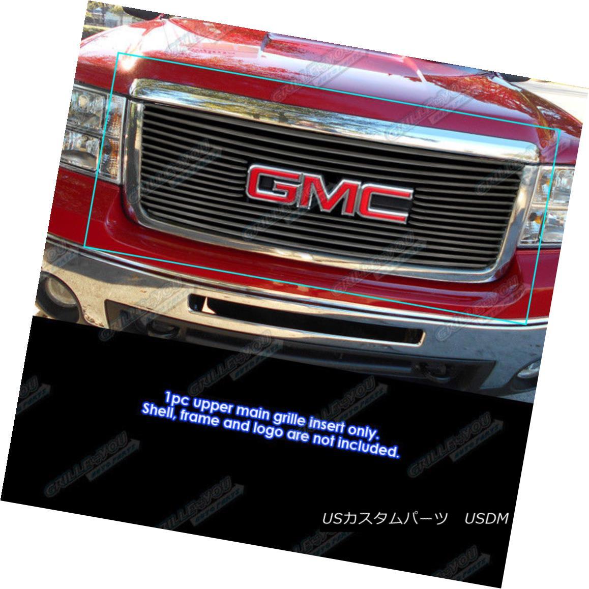 グリル Fits 2007-2013 GMC Sierra 1500 Black Tubular Grille Insert フィット2007-2013 GMC Sierra 1500ブラック管状グリルインサート